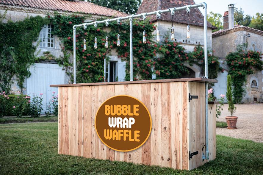 Corner gofres Bubble wrap waffle